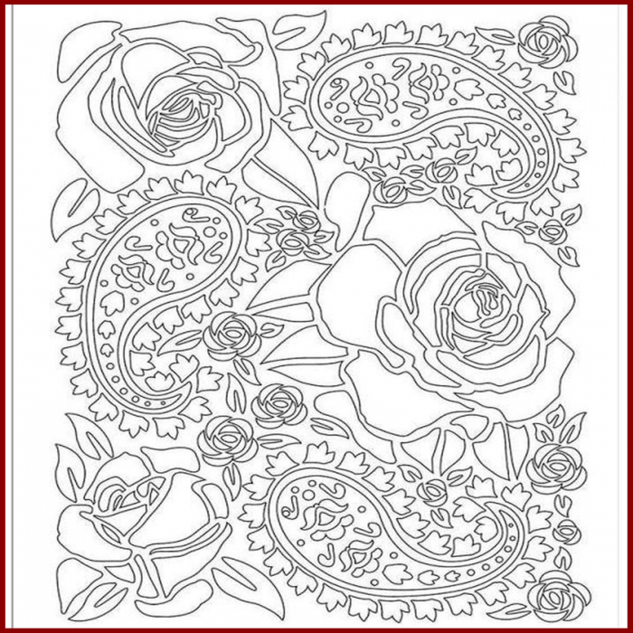 Foaie texturata Stamperia - Trandafir 1