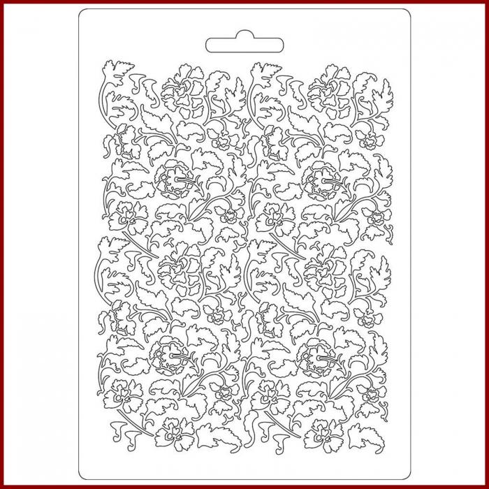 foaie-texturata-stamperia-k3pta522-model-floral 0