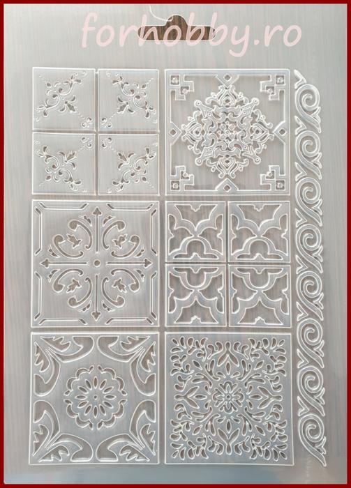 Foaie texturata Stamperia - Placi ceramica 0