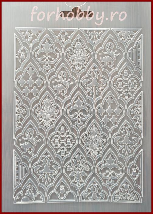 Foaie texturata Stamperia - Romburi 0