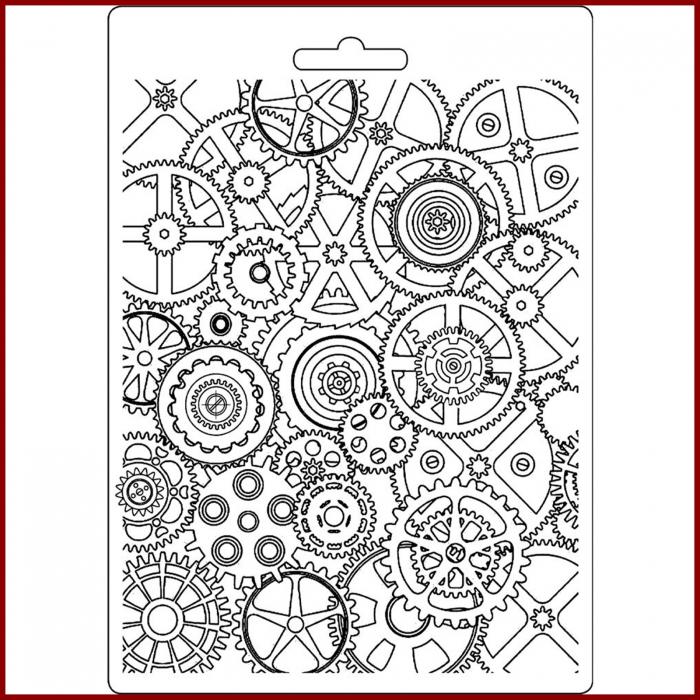 foaie-texturata-stamperia-k3pta537-steampunk 0