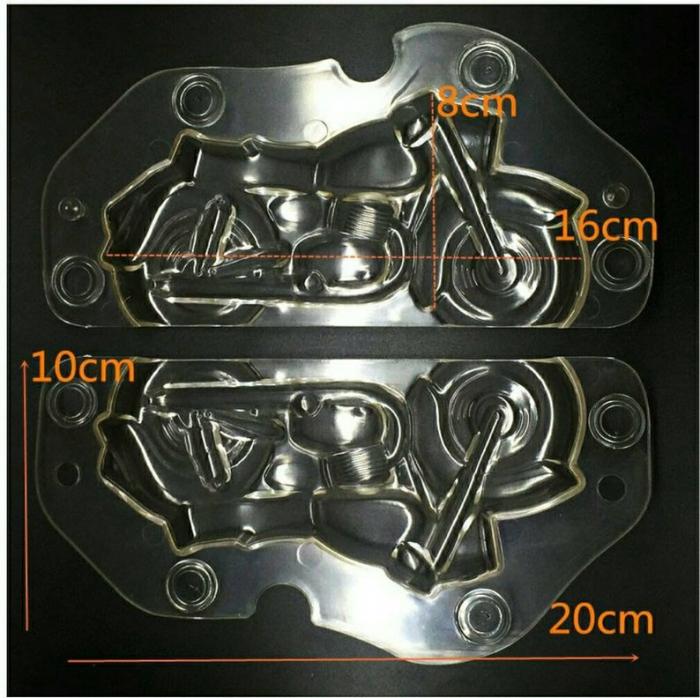 Forme 3D pentru figurine din ciocolata - Motocicleta 1