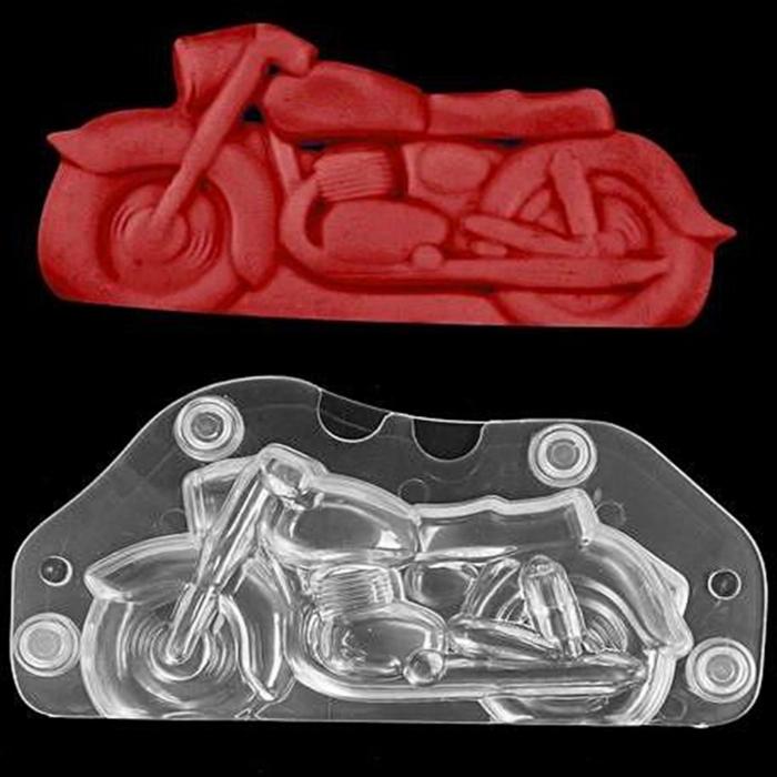 Forme 3D pentru figurine din ciocolata - Motocicleta 0