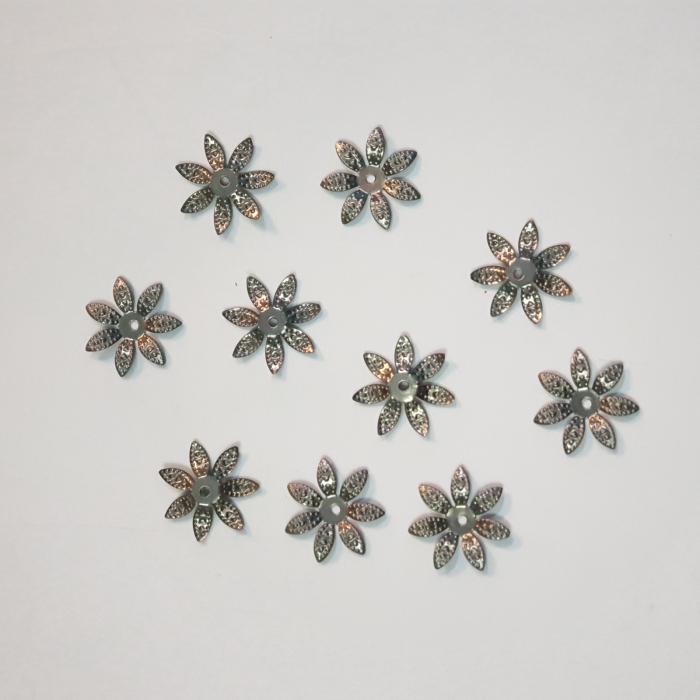 Forme metalice embosaste - Set 10 flori