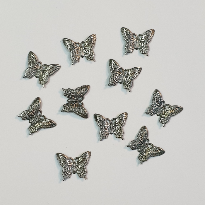 Forme metalice embosaste - Set 10 fluturi