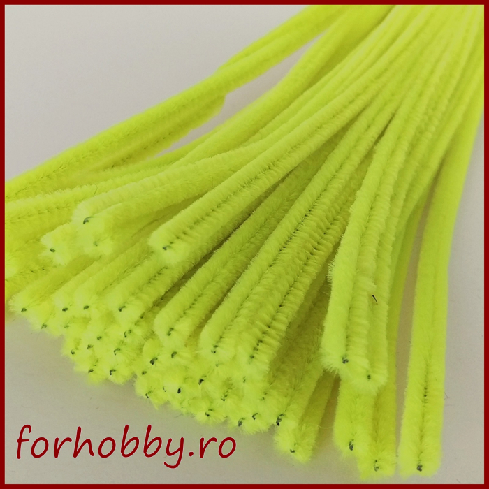Sarma plusata 30 cm- Galben neon