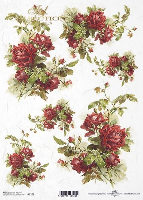 hartie-de-orez-trandafiri-itd-collection-r1208 0