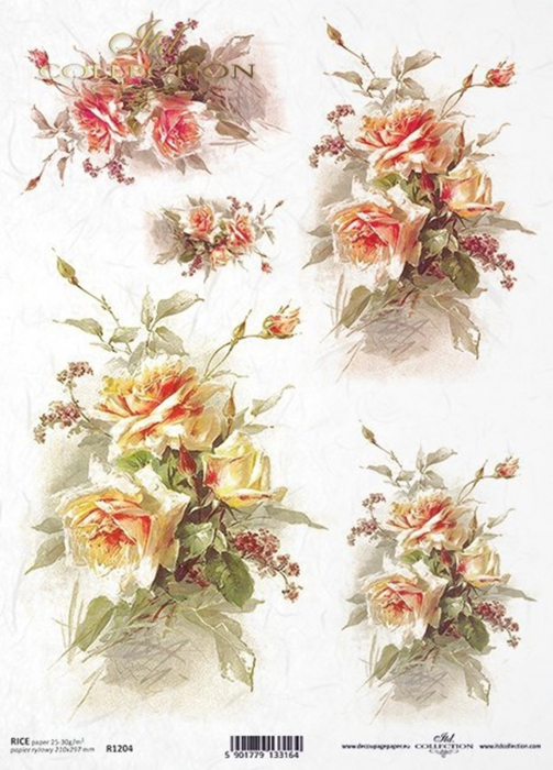 hartie-de-orez-trandafiri-itd-collection-r1204 0