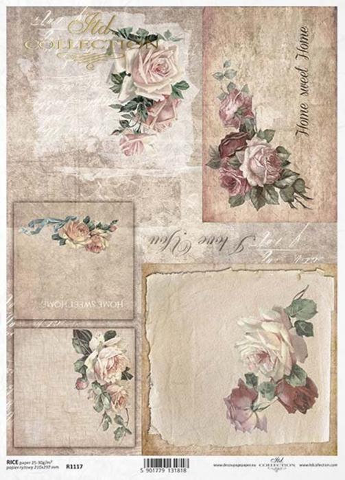 hartie-de-orez-trandafiri-itd-collection-r1117 0