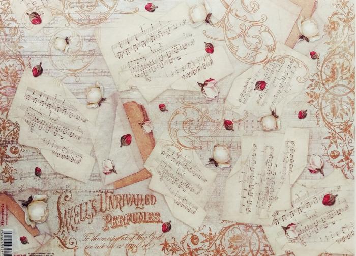 hartie-de-orez-stamperia-partitura-dfs348 0