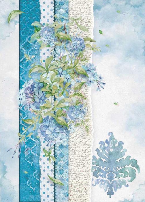 hartie-de-orez-a4-stamperia-flori-albastre-dfsa4417 0
