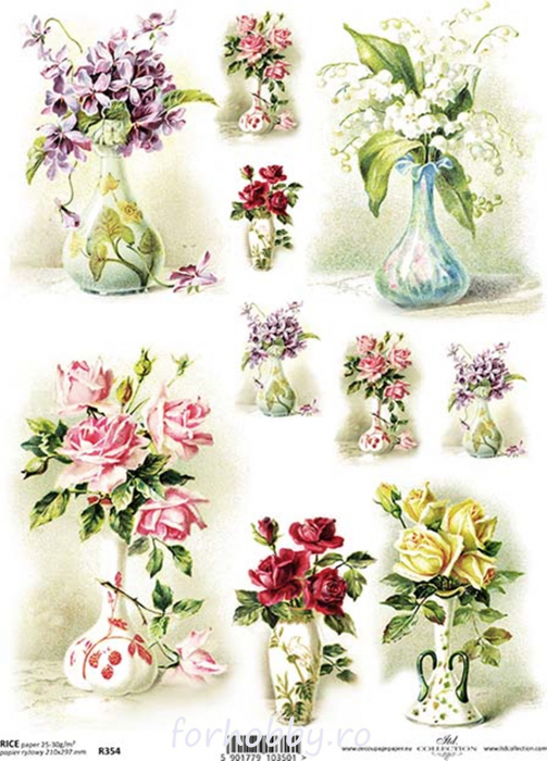 hartie-de-orez-flori-in-vaza-itd-collection-r0354 0