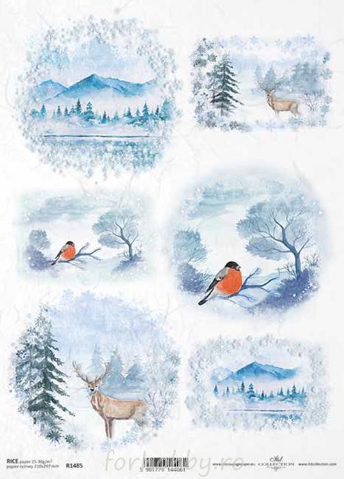 hartie-de-orez-peisaj-iarna-itd-collection-r1485 0