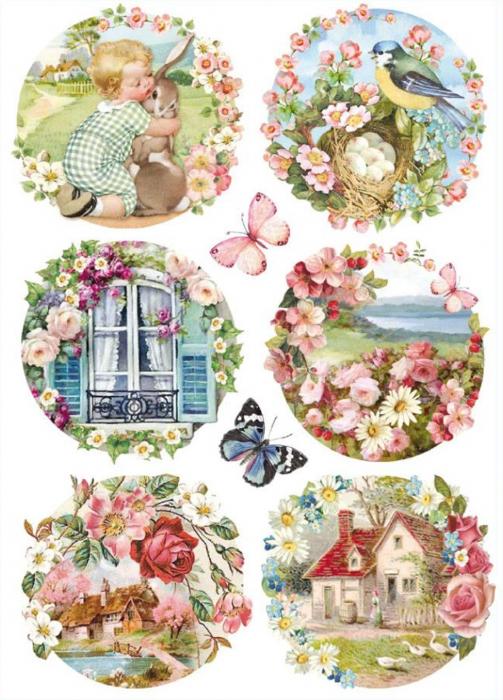 hartie-de-orez-stamperia-peisaje-florale-dfsa4293 0