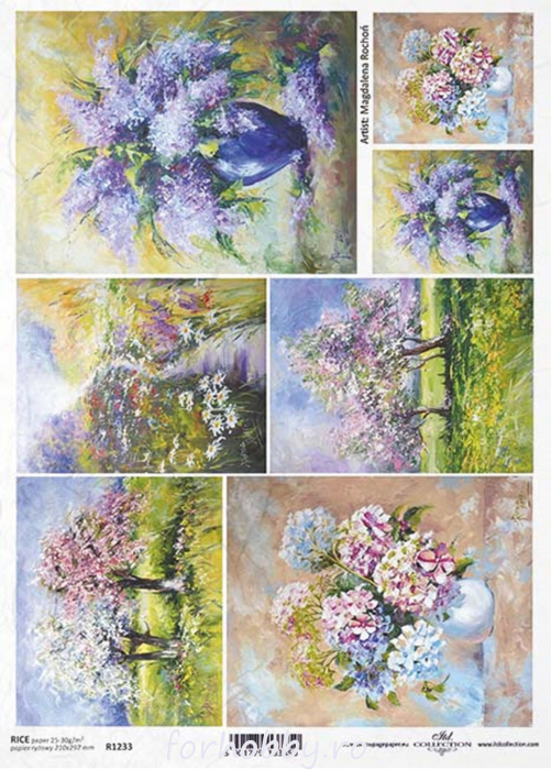 hartie-de-orez-picturi-cu-flori-itd-collection-r1233 0