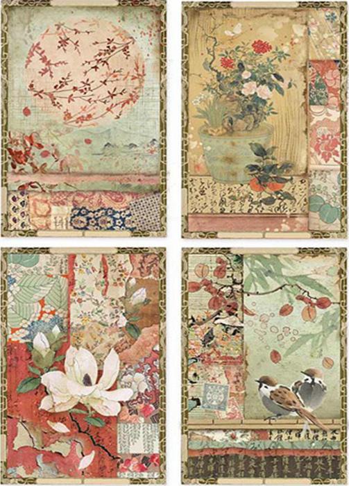 hartie-de-orez-stamperia-carti-postale-japoneze-dfsa4396 0