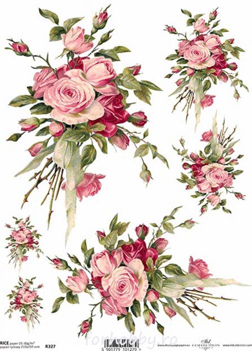 hartie-de-orez-trandafiri-itd-collection-r0327 0