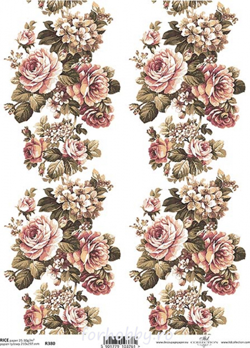 hartie-de-orez-trandafiri-itd-collection-r0380 0