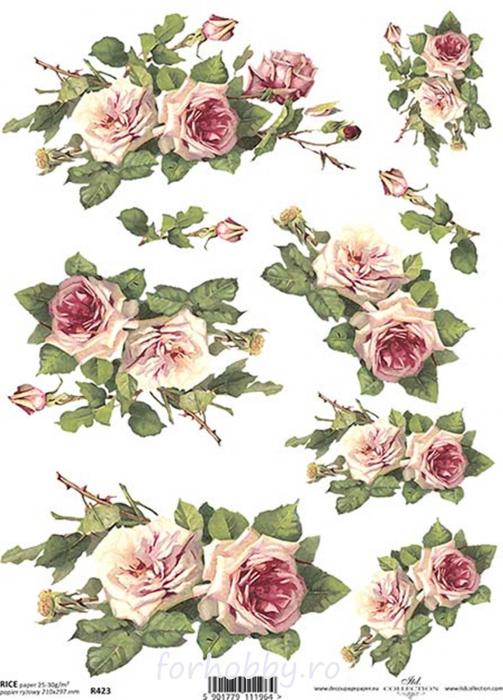 hartie-de-orez-trandafiri-itd-collection-r0423 0