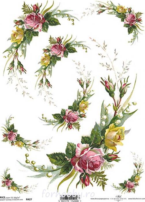 hartie-de-orez-trandafiri-itd-collection-r0427 0