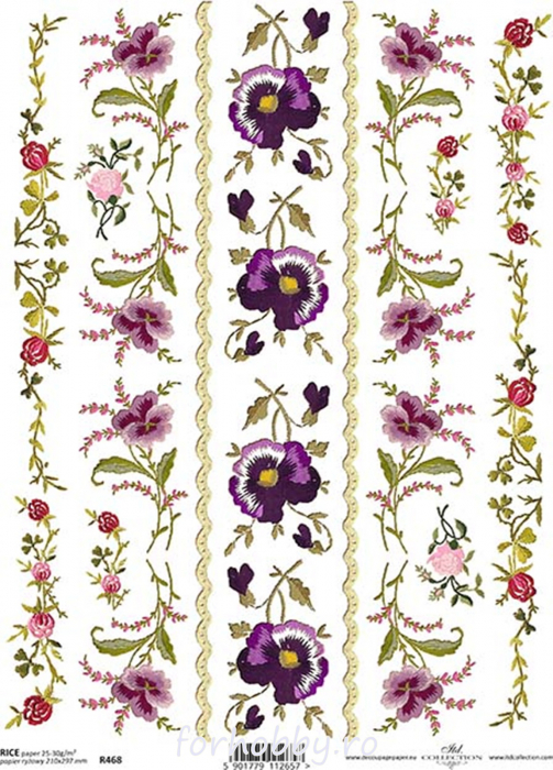 hartie-de-orez-borduri-flori-itd-collection-r468 0