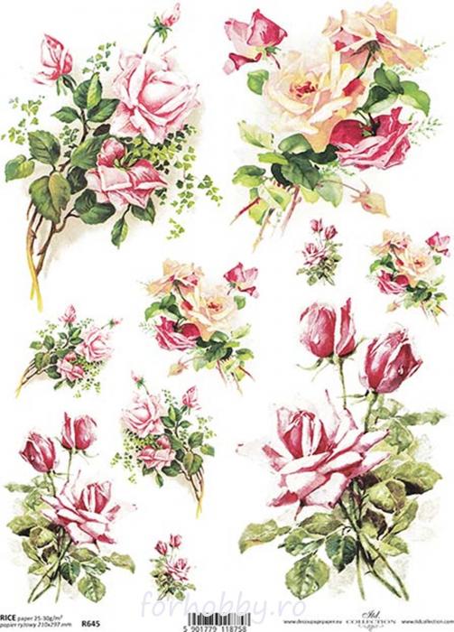 hartie-de-orez-trandafiri-itd-collection-r0645 0