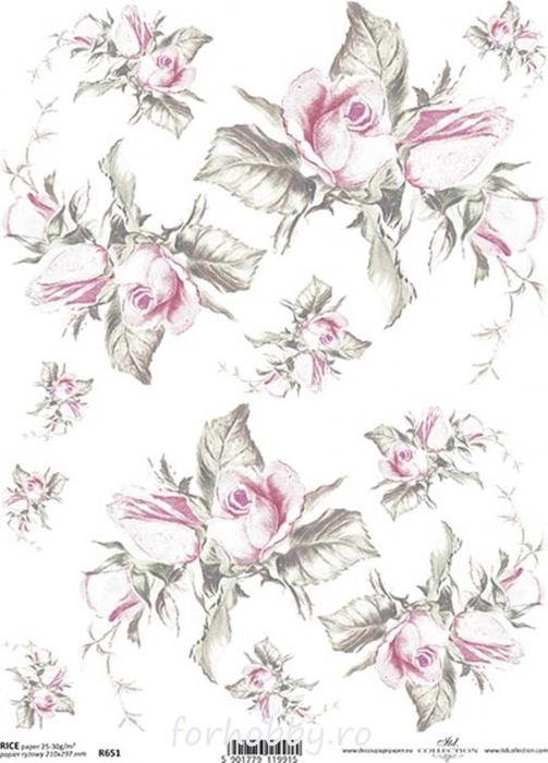 hartie-de-orez-trandafiri-itd-collection-r0651 0