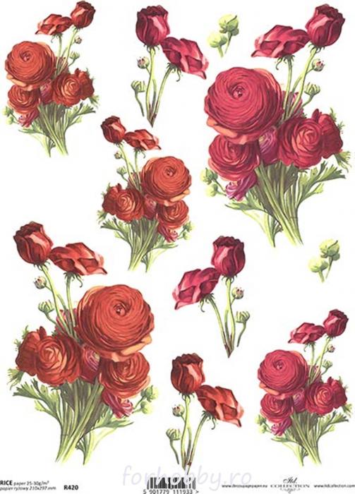 hartie-de-orez-trandafiri-itd-collection-r420 0