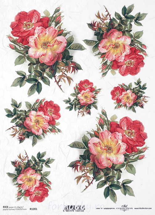 hartie-de-orez-trandafir-itd-collection-r1201 0