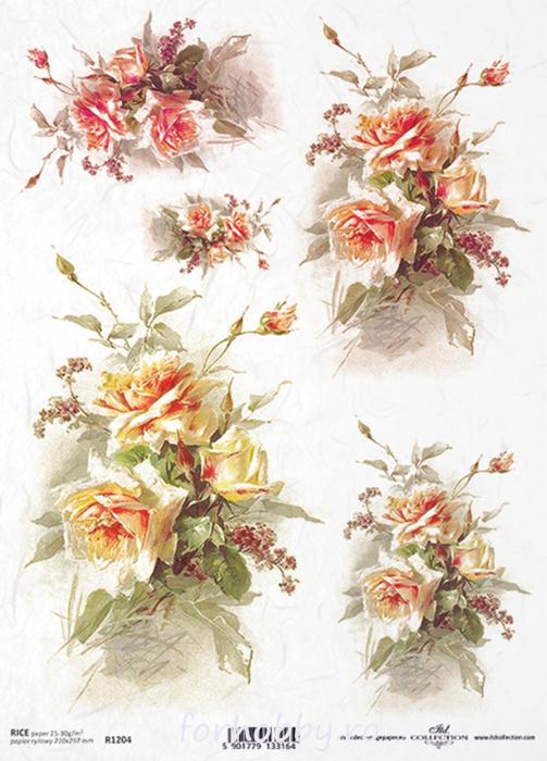 hartie-de-orez-trandafir-itd-collection-r1204 0
