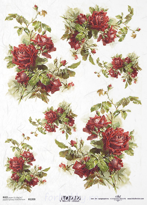 hartie-de-orez-trandafir-itd-collection-r1208 0