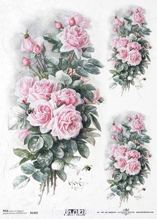 hartie-de-orez-trandafir-itd-collection-r1209 0