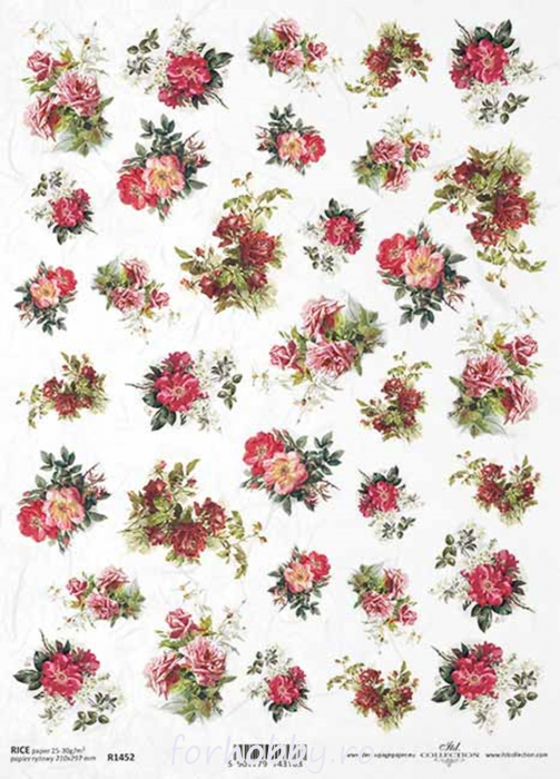 hartie-de-orez-trandafir-itd-collection-r1452 0