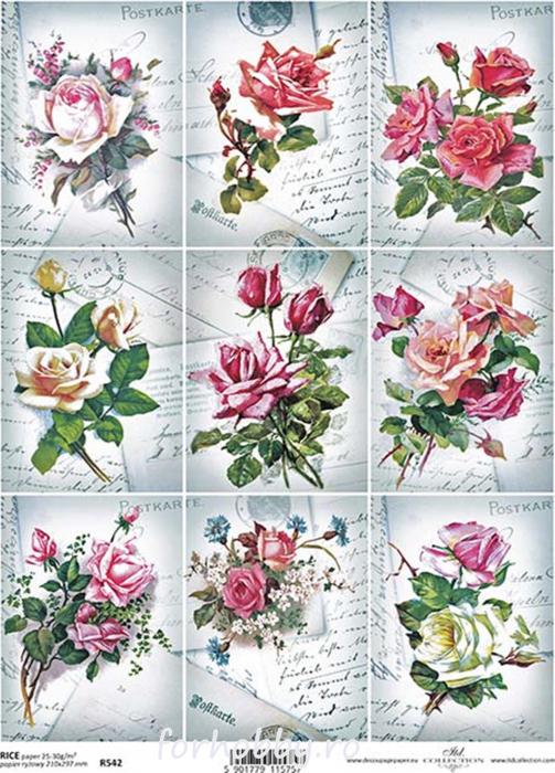 hartie-de-orez-trandafiri-itd-collection-r542 0