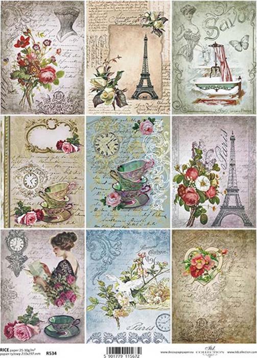 hartie-de-orez-miniaturi-vintage-itd-collection-r0534 0