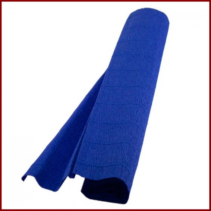 Hartie creponata floristica 180 g 50x250 cm- Albastru marin 0