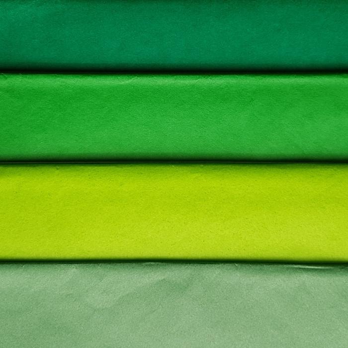 Hartie de matase, coala 50x70 cm, verde padure 1