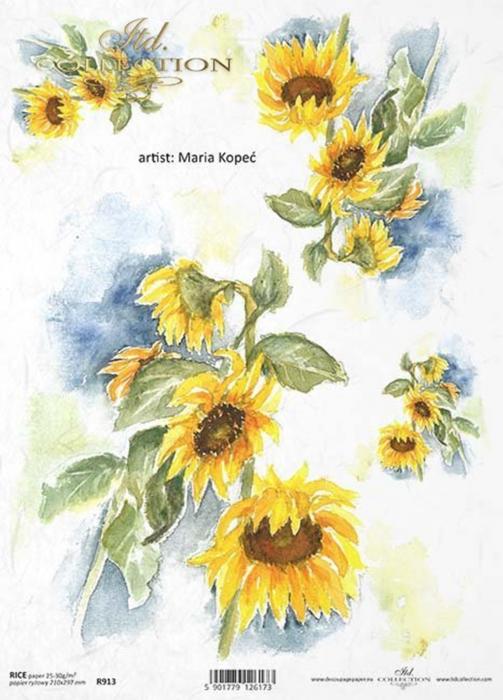 hartie-de-orez-floarea-soarelui-itd-collection-r913 0
