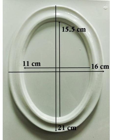 Matrita pentru turnat-  Rama ovala 1