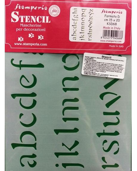Sablon plastic flexibil - Litere 1