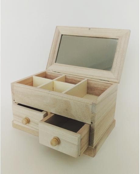 Cutie bijuterii cu 2 sertare 17x10.5x10 cm 0