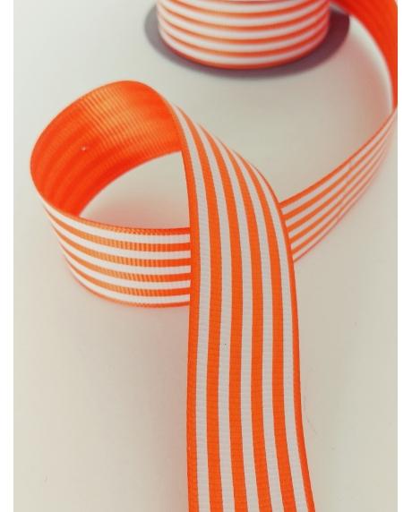 Panglica decor cu dungi portocalii albe