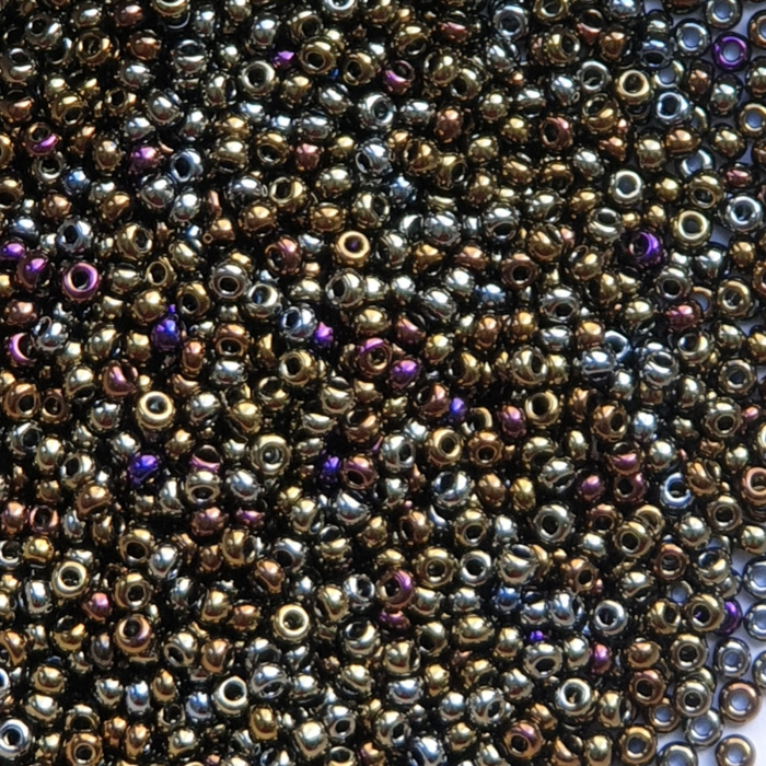 Margele nisip Preciosa Ornela 10/0 - 40 g - Verde metalizat irizant 59115