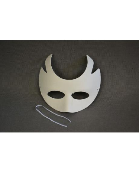 Masca venetiana din hartie cu coarne