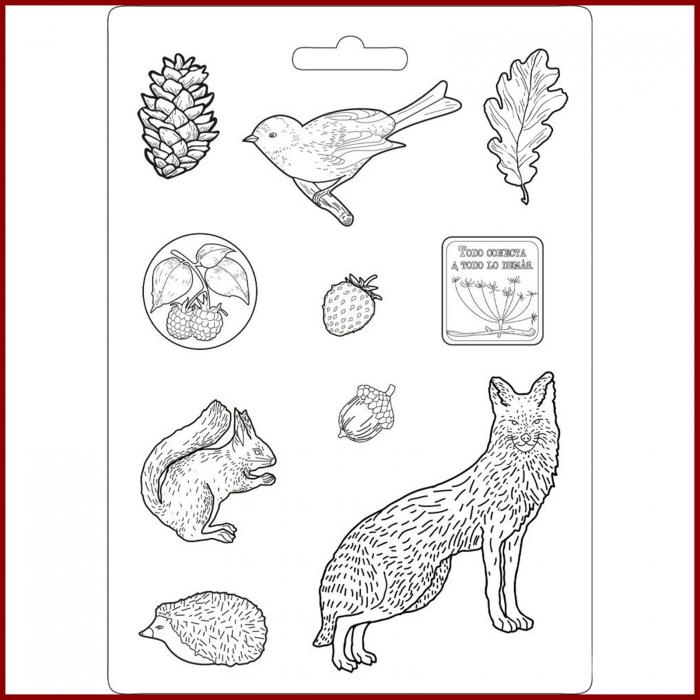 matrita-pentru-turnat-stamperia-k3pta463-animale-salbatice 0