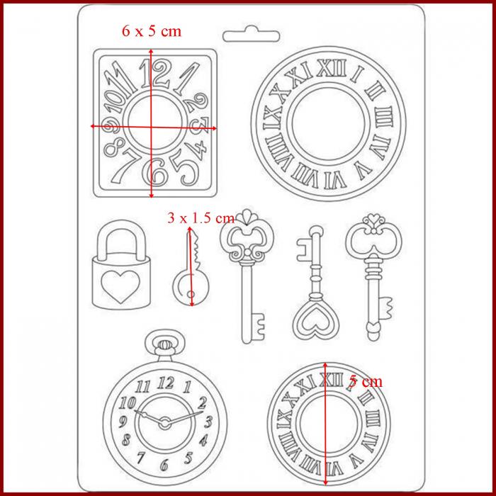 matrita-pentru-turnat-stamperia-k3pta532-ceas-cheie 1