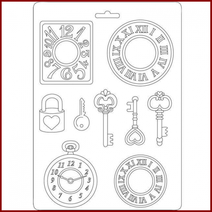 matrita-pentru-turnat-stamperia-k3pta532-ceas-cheie 0