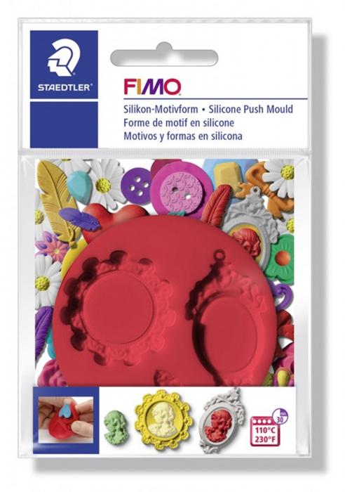 Mulaj din silicon FIMO Camee 2