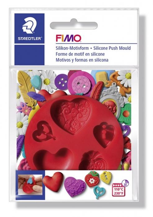 Mulaj din silicon FIMO Inimi