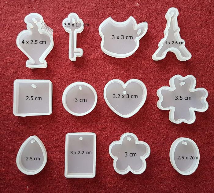 Mulaj din silicon Set 12 pandantive 1